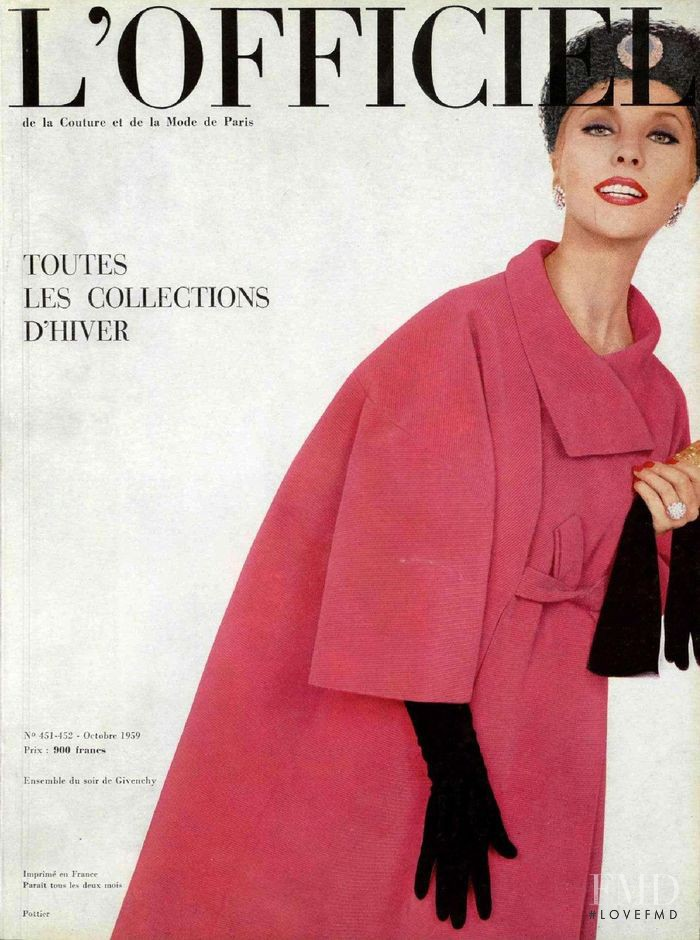 featured on the L\'Officiel France cover from October 1959