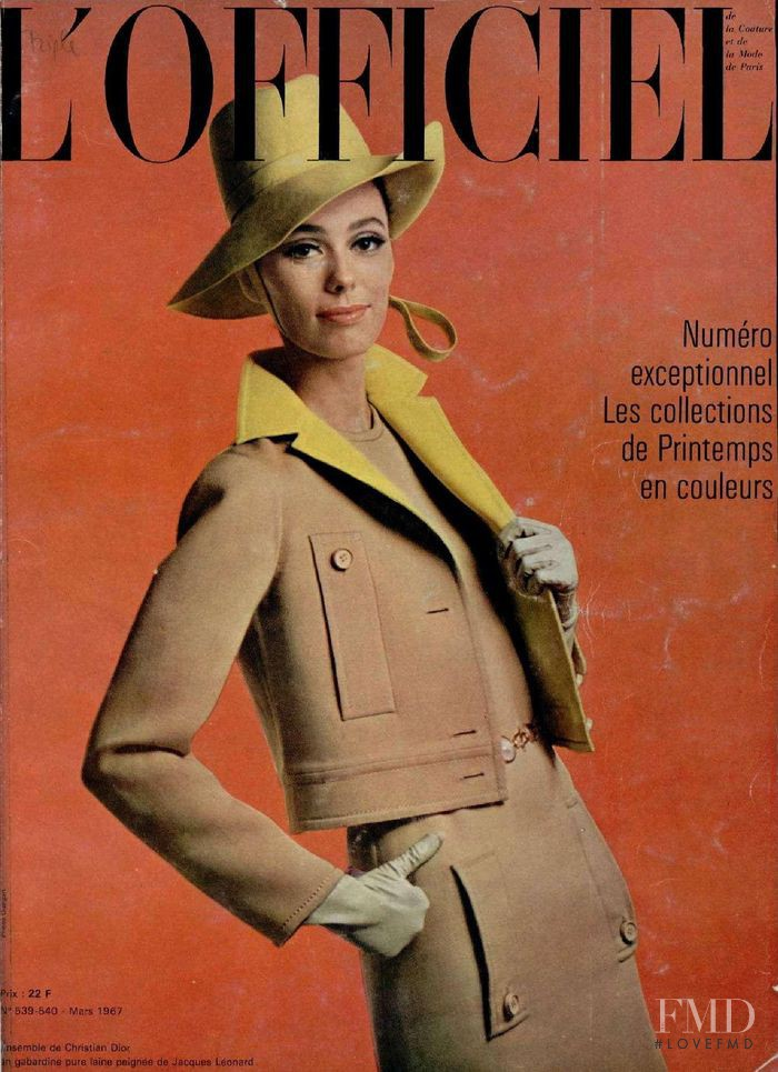 featured on the L\'Officiel France cover from March 1967