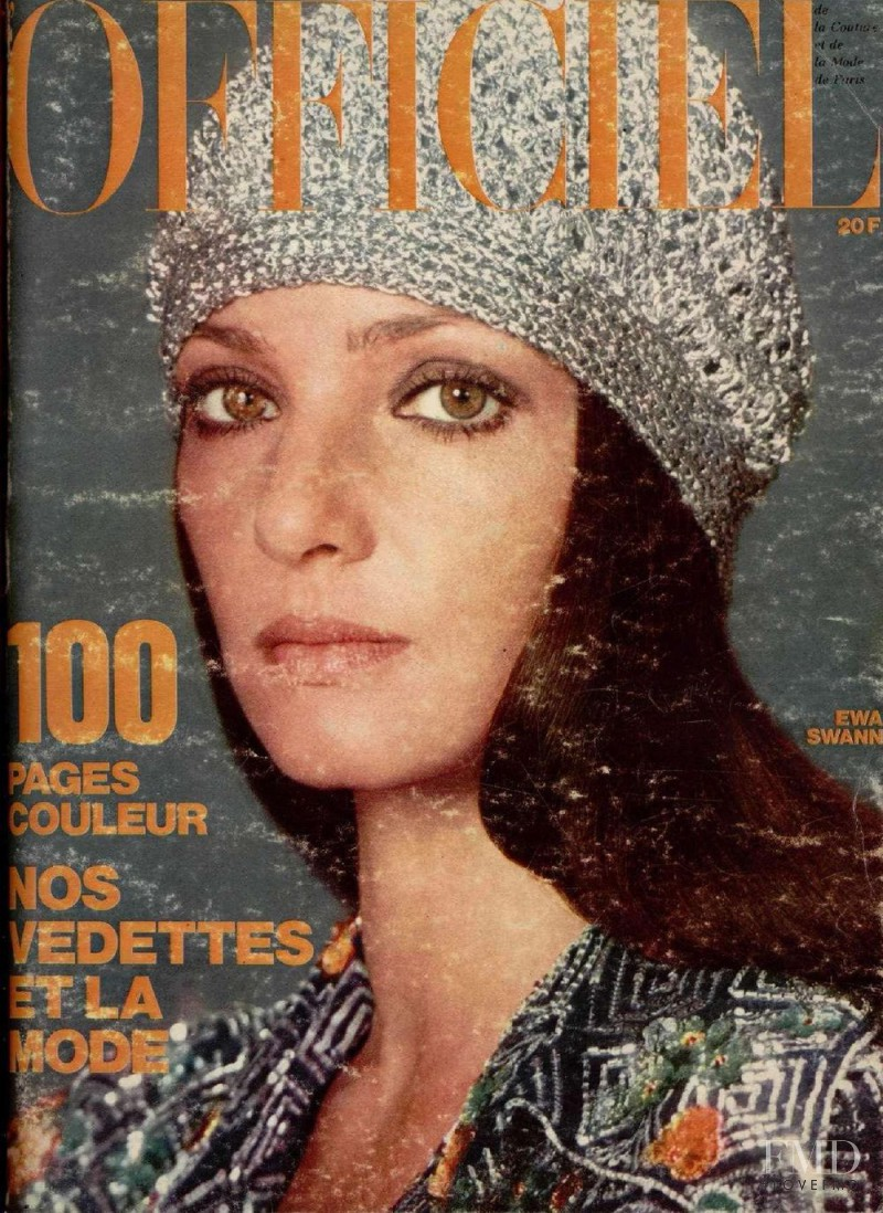 featured on the L\'Officiel France cover from December 1973