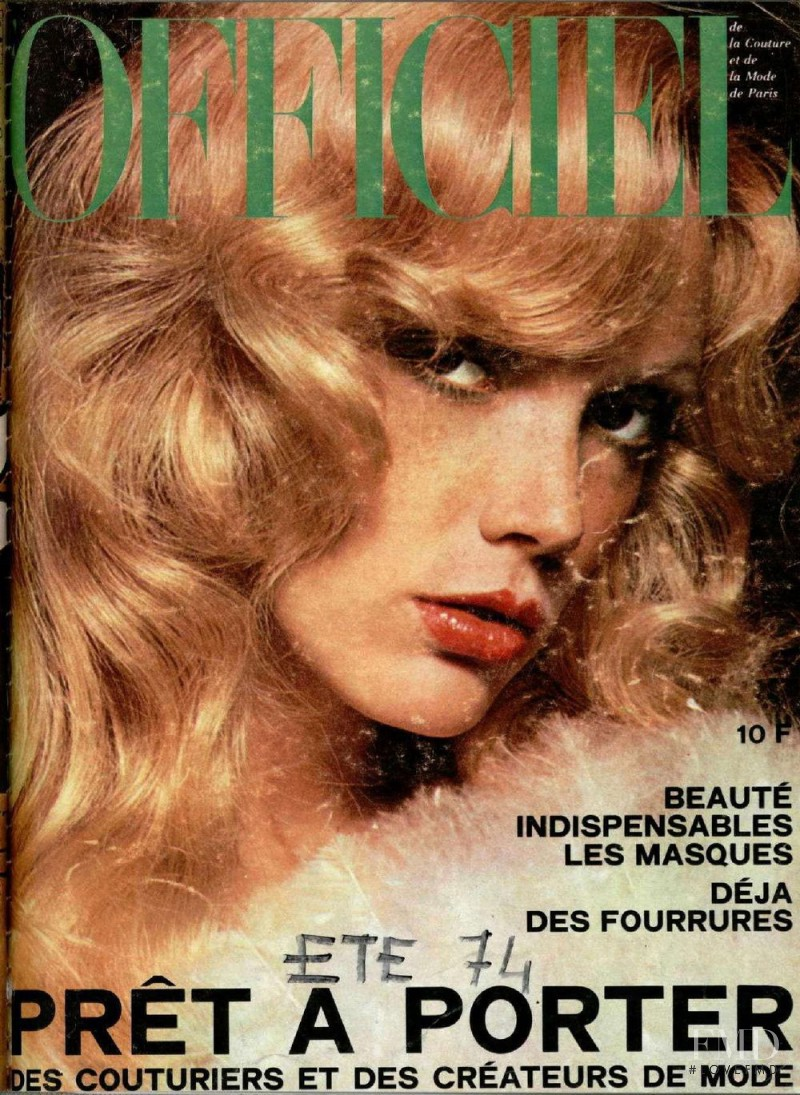 featured on the L\'Officiel France cover from October 1974