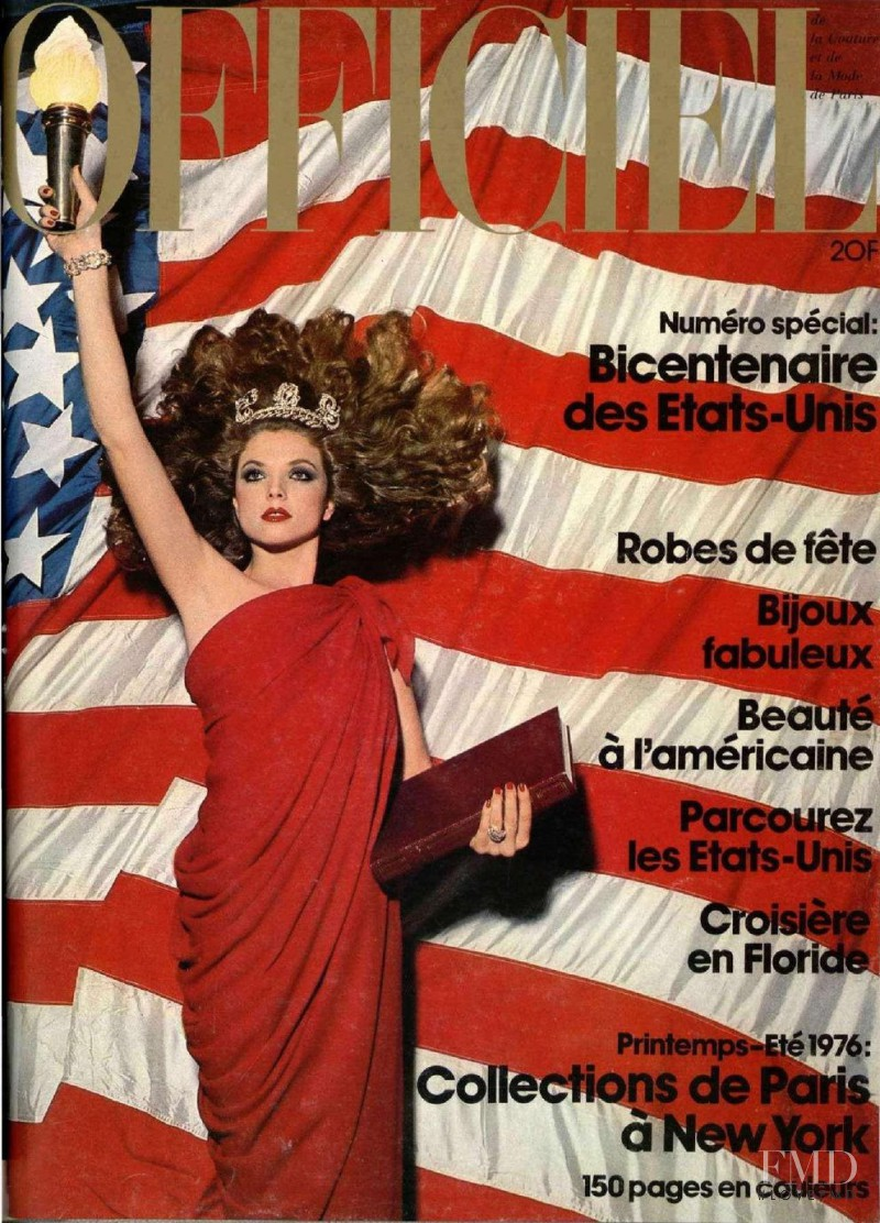 featured on the L\'Officiel France cover from December 1975