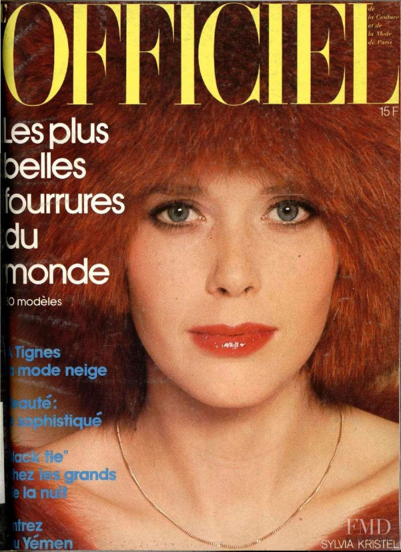 Sylvia Kristel featured on the L\'Officiel France cover from November 1975