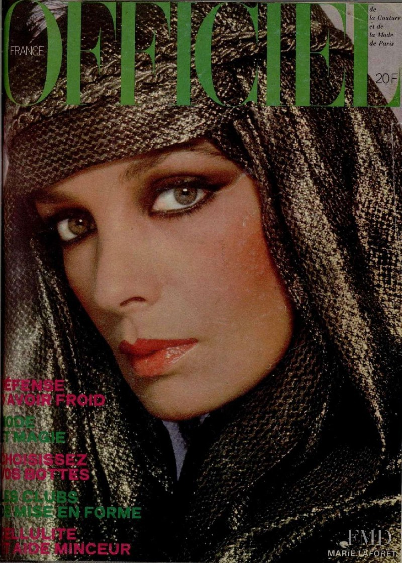 Marie Laforet featured on the L\'Officiel France cover from October 1977