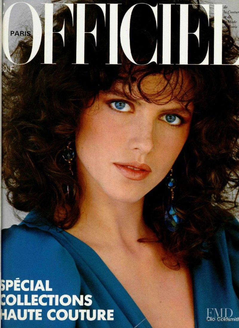 Clio Goldsmith featured on the L\'Officiel France cover from March 1982