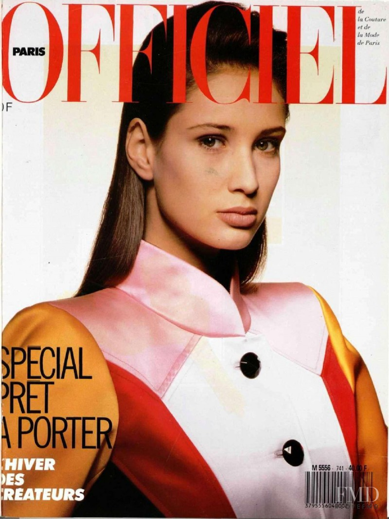 Alexandra Aubin featured on the L\'Officiel France cover from June 1988