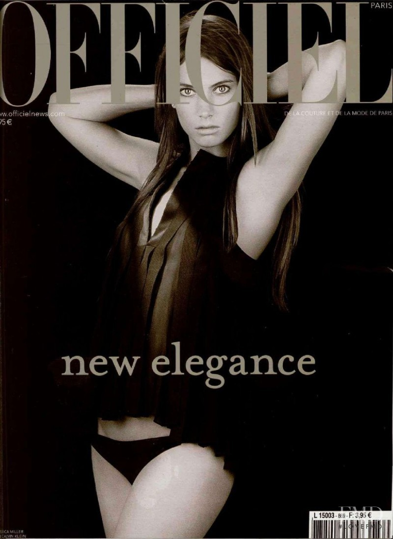 Jessica Miller featured on the L\'Officiel France cover from October 2002
