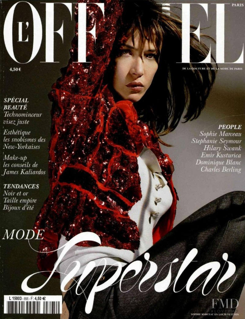 Sophie Marceau featured on the L\'Officiel France cover from May 2005