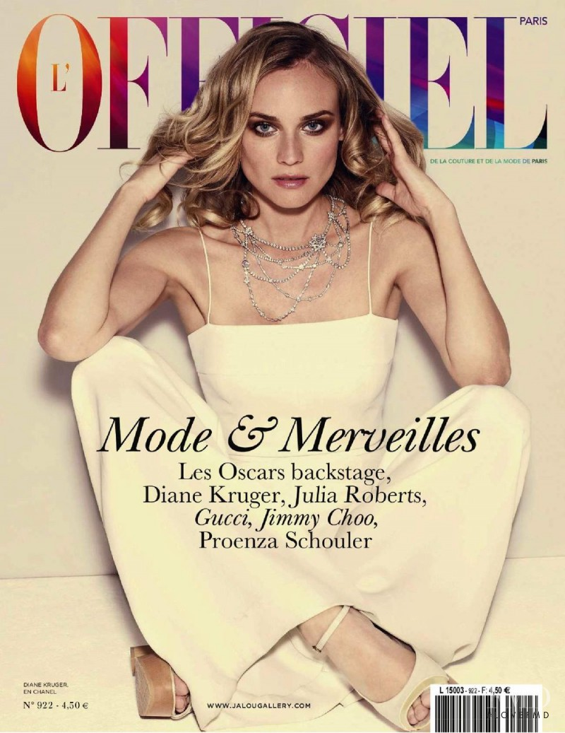 Diane Heidkruger featured on the L\'Officiel France cover from February 2008