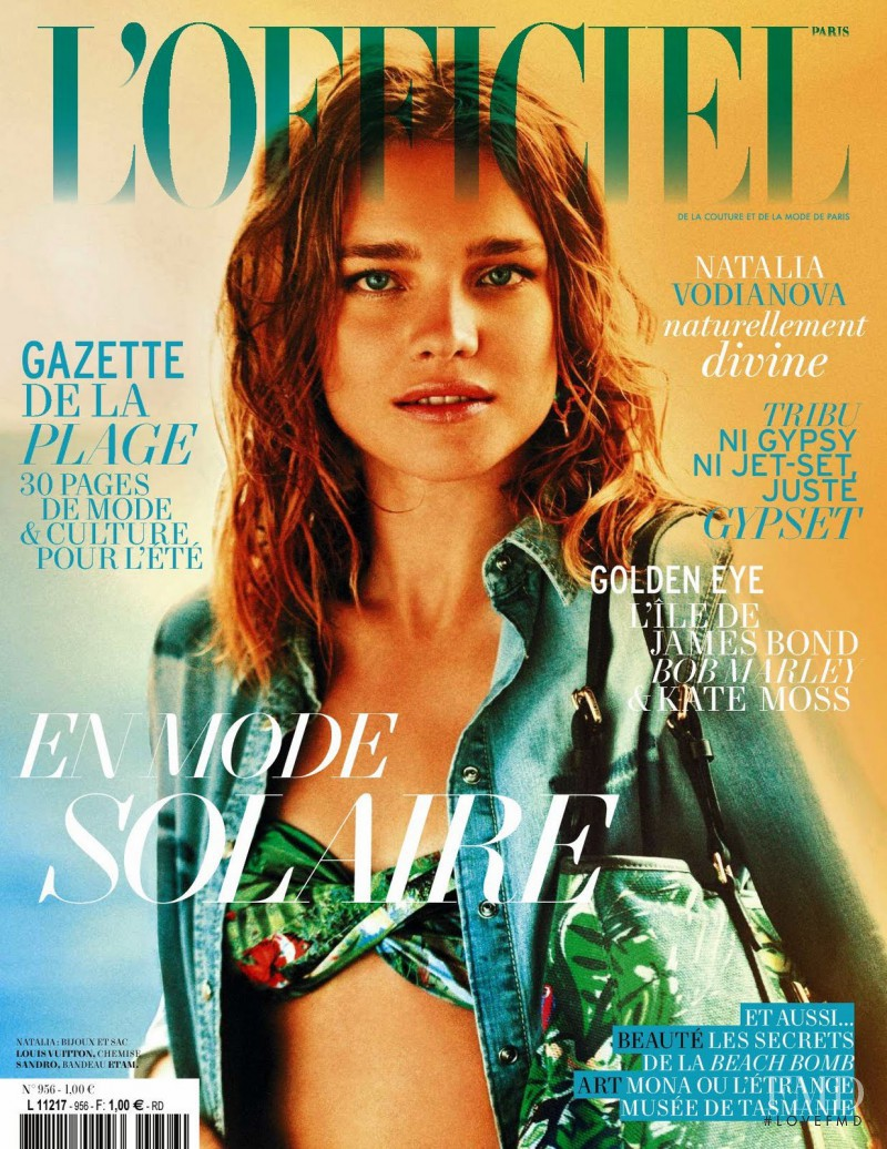 Natalia Vodianova featured on the L\'Officiel France cover from June 2011