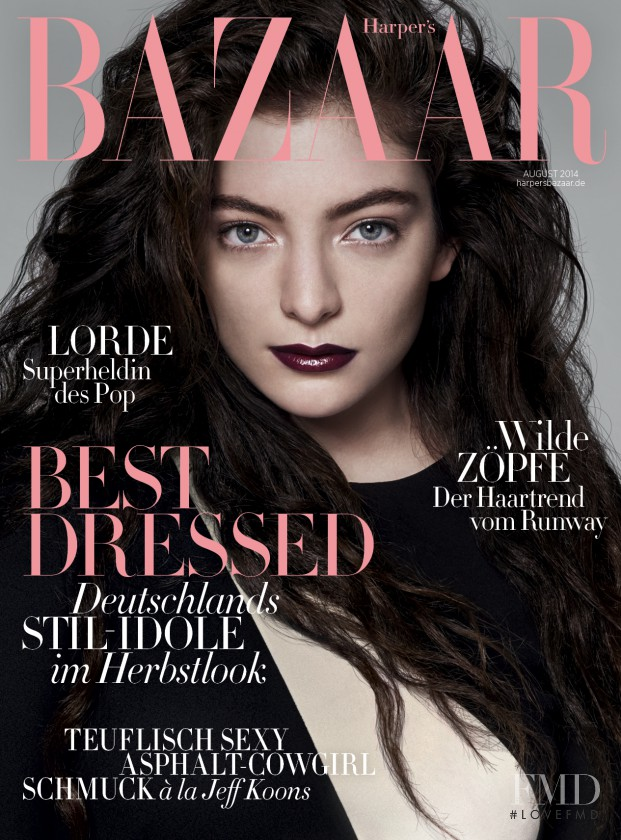 featured on the Harper\'s Bazaar Germany cover from August 2014