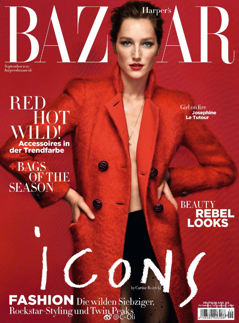 cover of harper 39 s bazaar germany with jos phine le tutour september 2017 id 2579 magazines. Black Bedroom Furniture Sets. Home Design Ideas