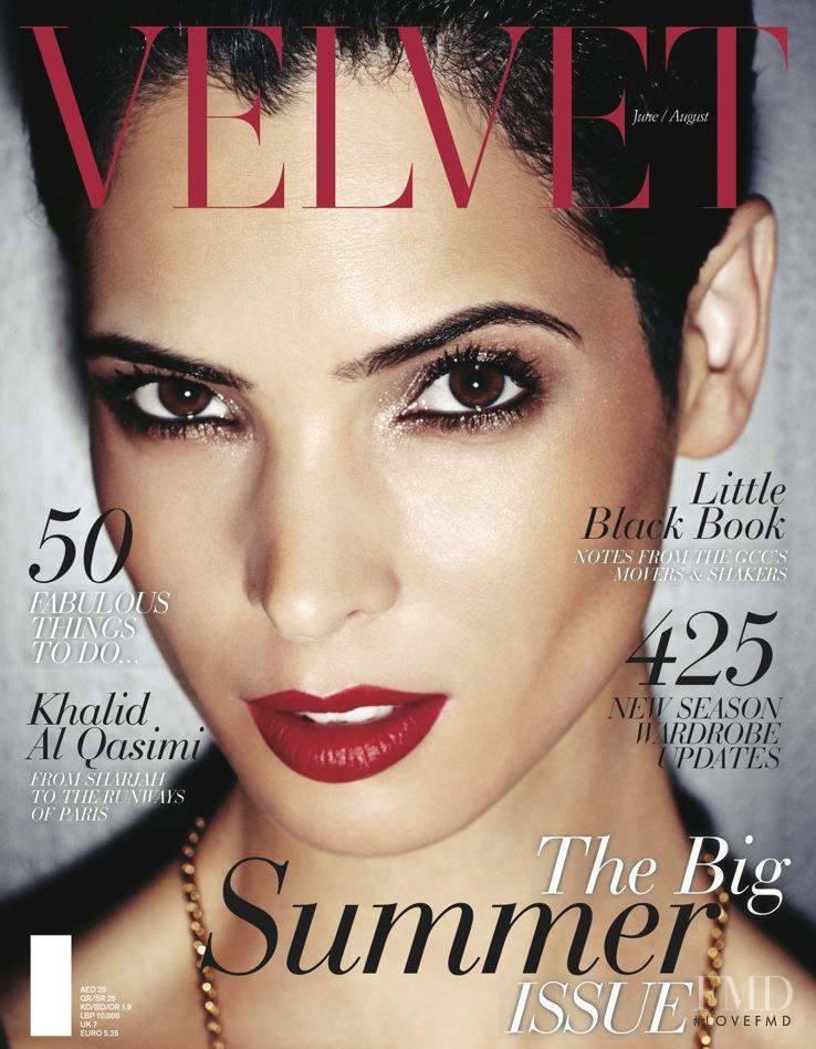 Hanaa Ben Abdesslem featured on the Velvet United Arab Emirates cover from June 2012