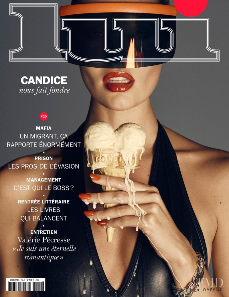 Candice Swanepoel featured on the Lui France cover from September 2015