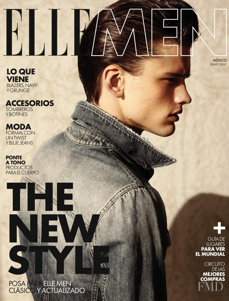 Cover of Elle Man Mexico with Simon Nessman, June 2010 (ID ...