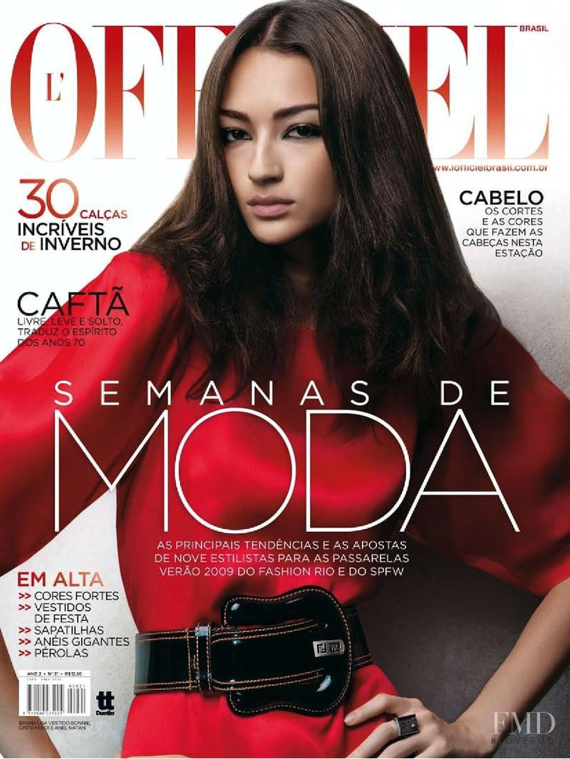 Bruna Ten�rio featured on the L\'Officiel Brazil cover from June 2008