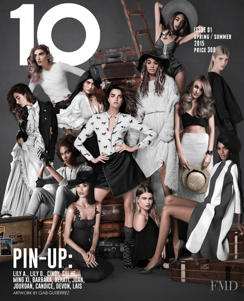 Devon Aoki, Lily Aldridge, Lily Donaldson, Candice Swanepoel, Behati Prinsloo, Jourdan Dunn, Joan Smalls, Barbara Palvin, Lais Ribeiro, Ming Xi, Sui He, Cindy Bruna featured on the 10 Magazine Australia cover from February 2015