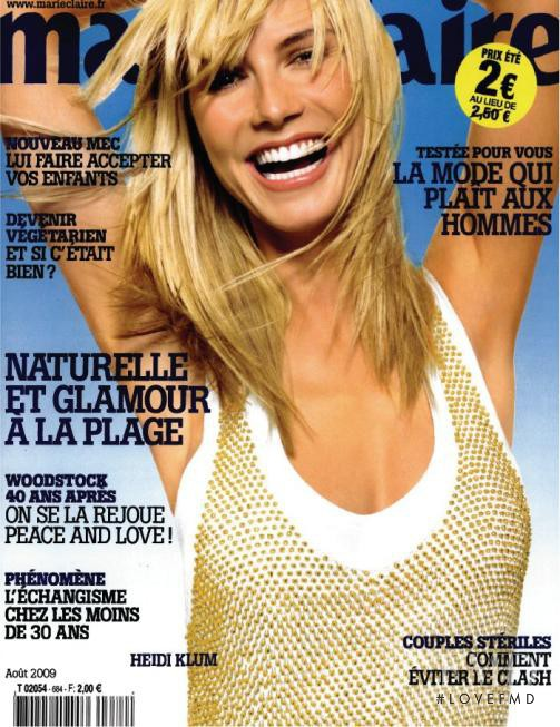 Heidi Klum featured on the Marie Claire France cover from August 2009