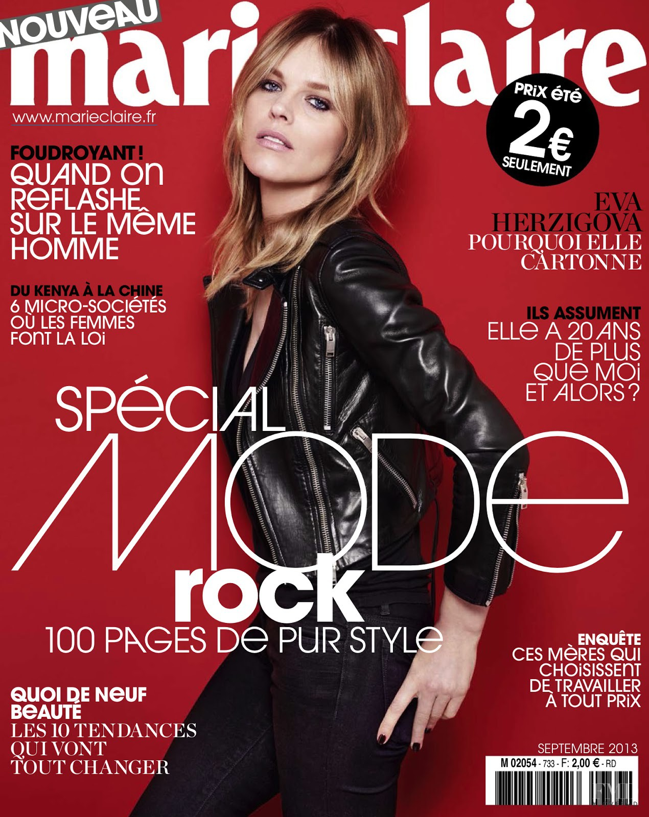 cover of marie claire france with eva herzigova september 2013 id 22682 magazines the fmd. Black Bedroom Furniture Sets. Home Design Ideas