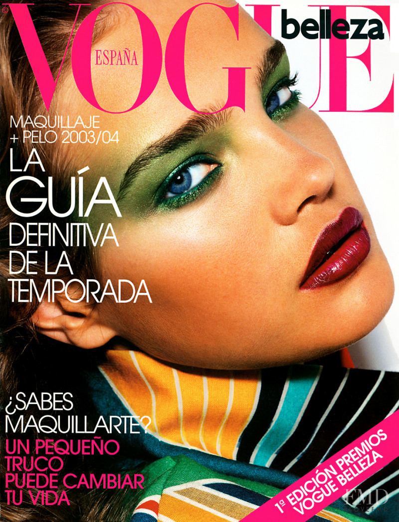 Natalia Vodianova featured on the Vogue Belleza cover from November 2003