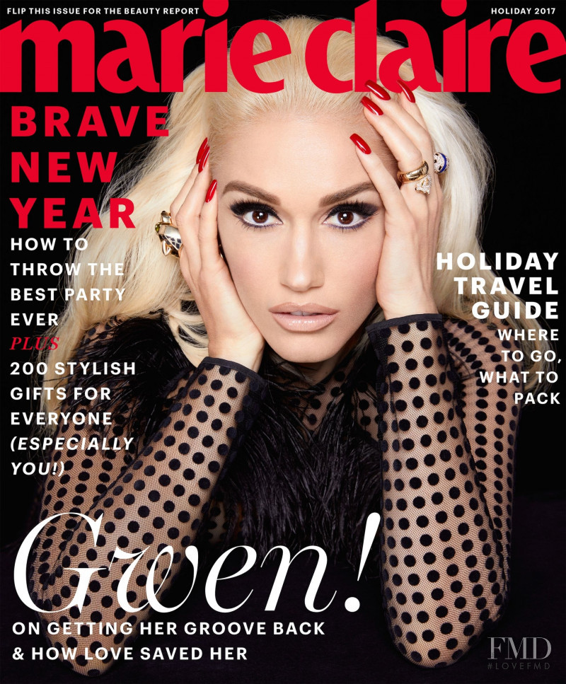 Gwen Stefani  featured on the Marie Claire USA cover from December 2017