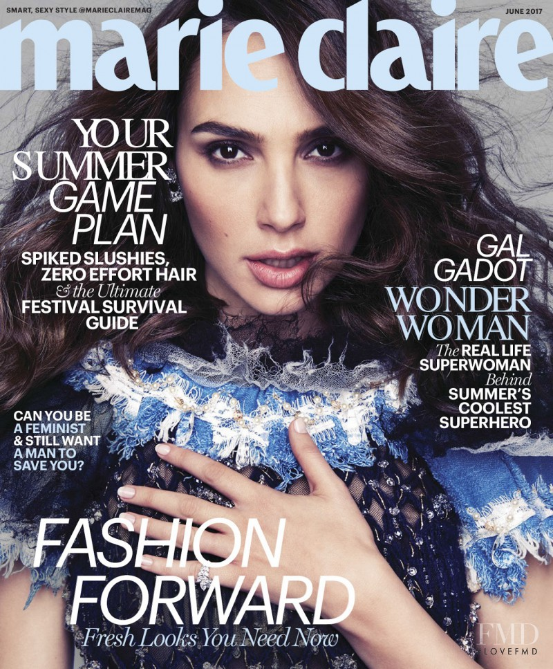 Gal Gadot featured on the Marie Claire USA cover from June 2017