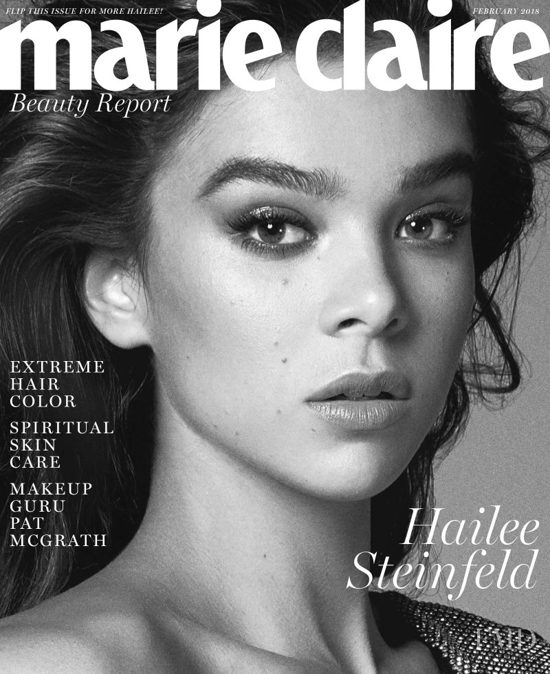 Hailee Steinfeld featured on the Marie Claire USA cover from February 2018