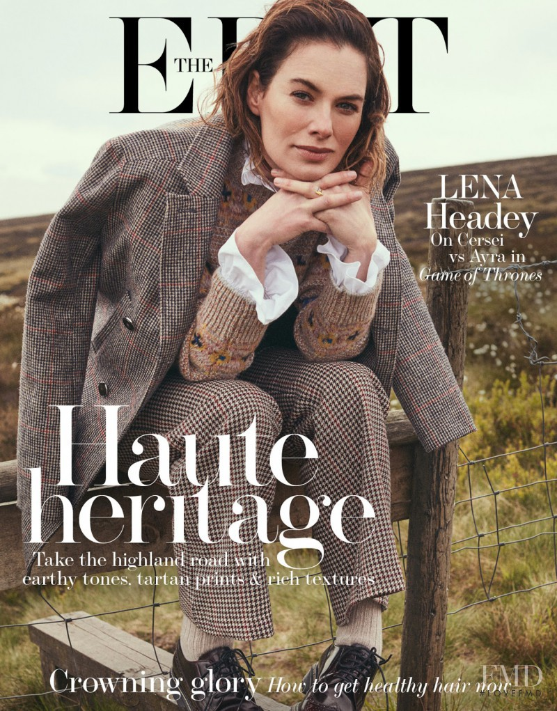 Lena Headey  featured on the The Edit cover from July 2017