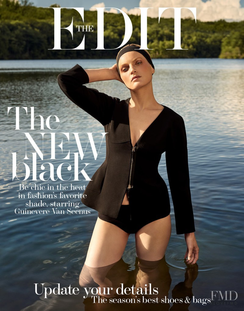Guinevere van Seenus featured on the The Edit cover from July 2017