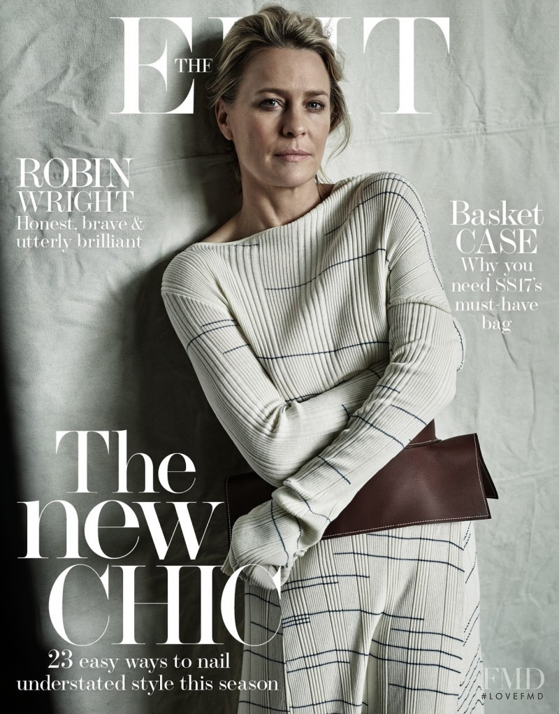 Robin Wright featured on the The Edit cover from May 2017