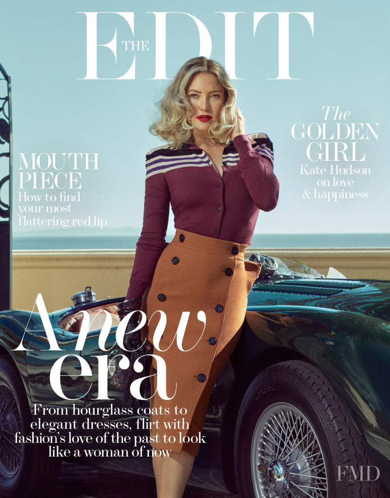 Kate Hudson featured on the The Edit cover from October 2017