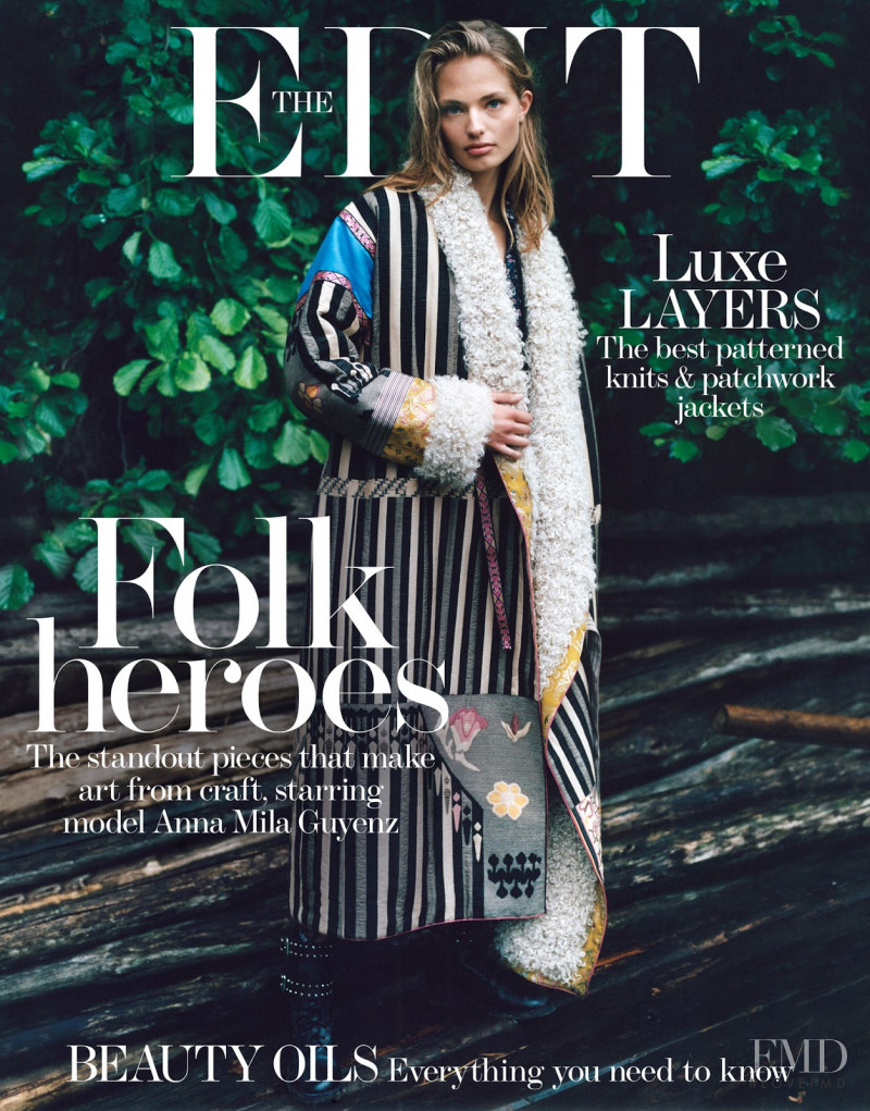 Anna Mila Guyenz featured on the The Edit cover from September 2017