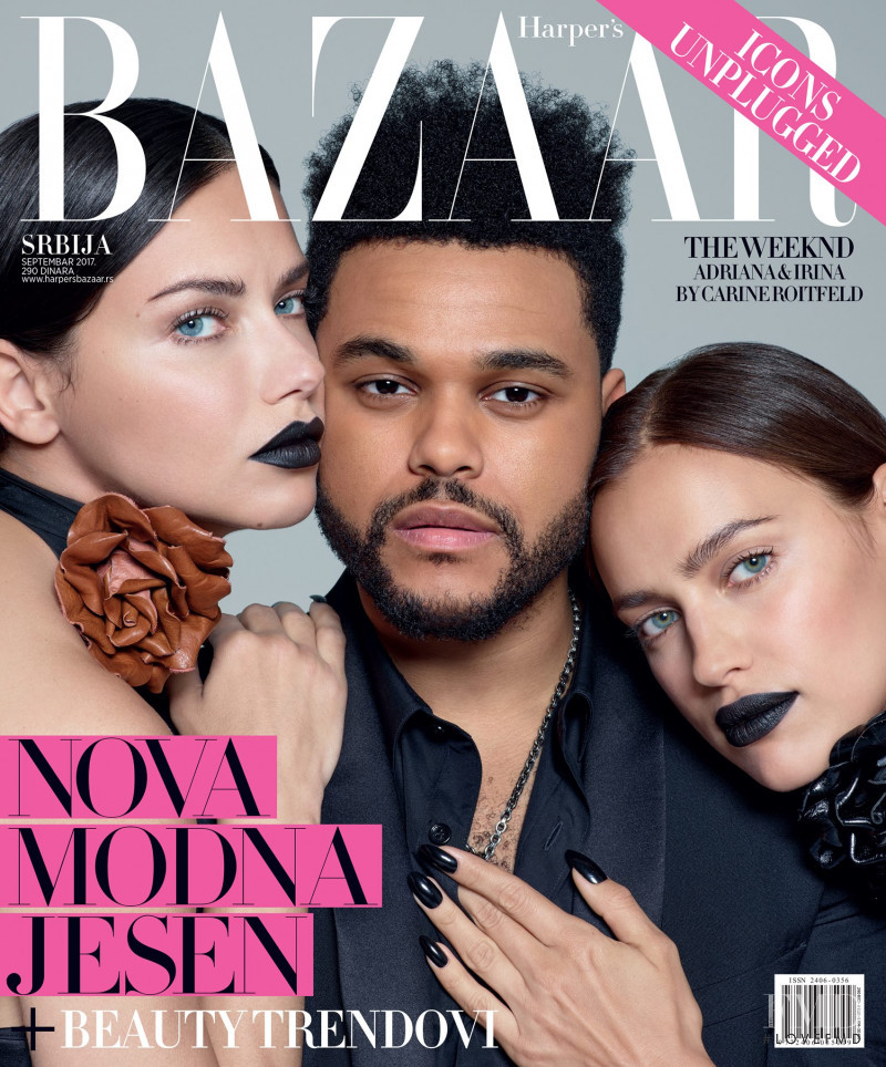 Adriana Lima, Irina Shayk featured on the Harper\'s Bazaar Serbia cover from September 2017