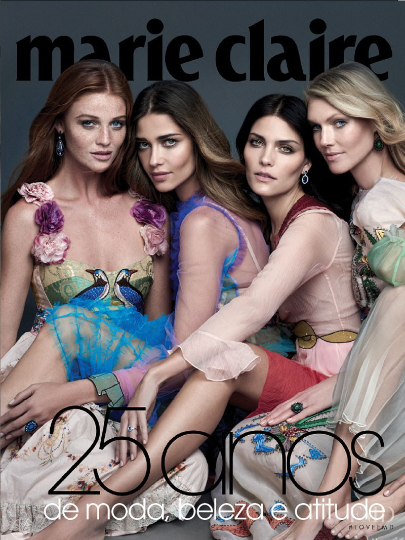 Ana Beatriz Barros, Cintia Dicker featured on the Marie Claire Brazil cover from April 2016