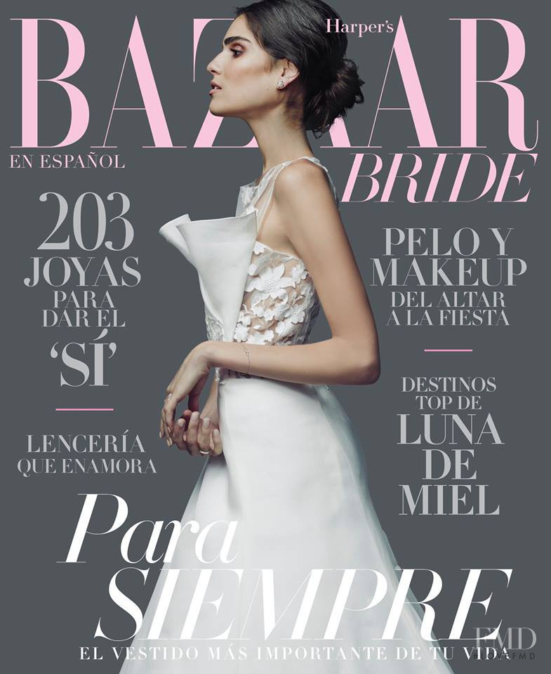 Alejandra Infante featured on the Harper\'s Bazaar Bride Mexico cover from December 2014
