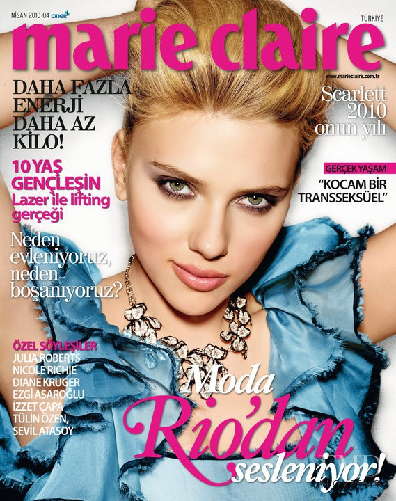 Cover of Marie Claire Turkey with Scarlett Johansson ...