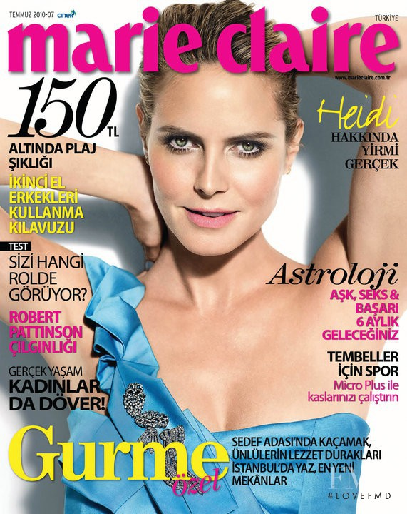 Cover of Marie Claire Turkey with Heidi Klum, July 2010 ...