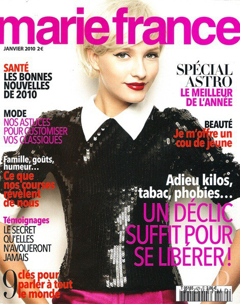 cover of marie france with justine paquette january 2010 id 13070 magazines the fmd. Black Bedroom Furniture Sets. Home Design Ideas