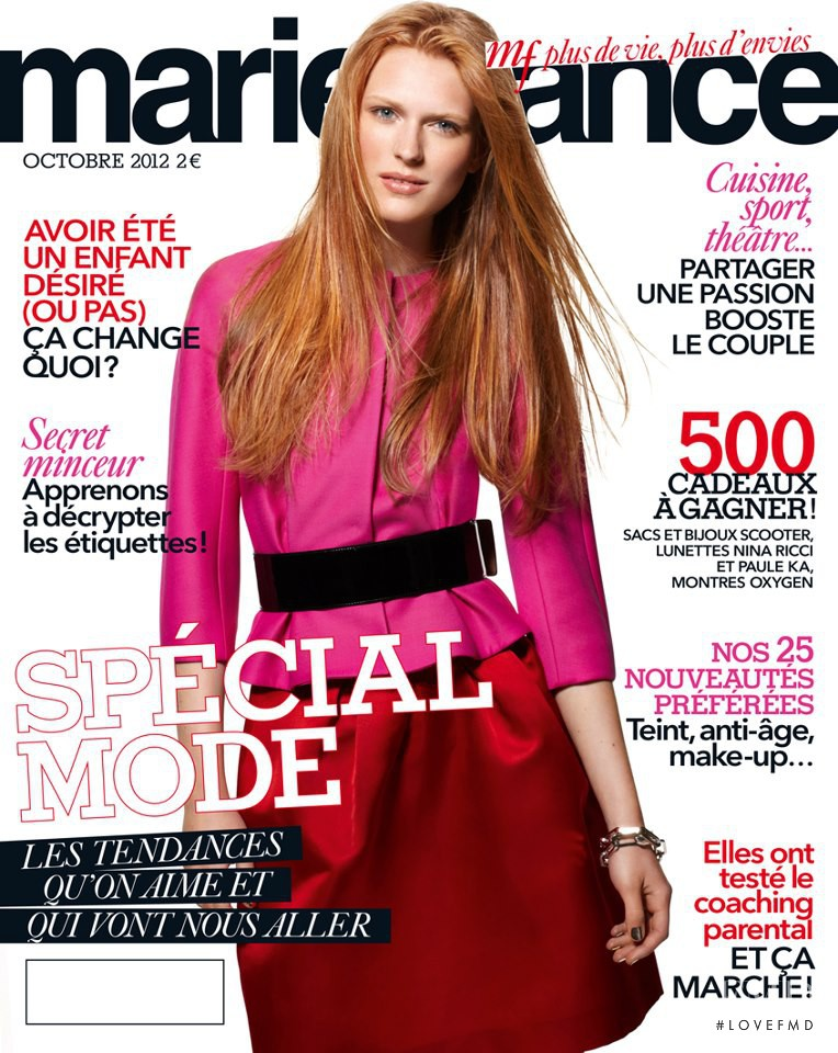 cover of marie france with malgosia piernik october 2012 id 18949 magazines the fmd. Black Bedroom Furniture Sets. Home Design Ideas