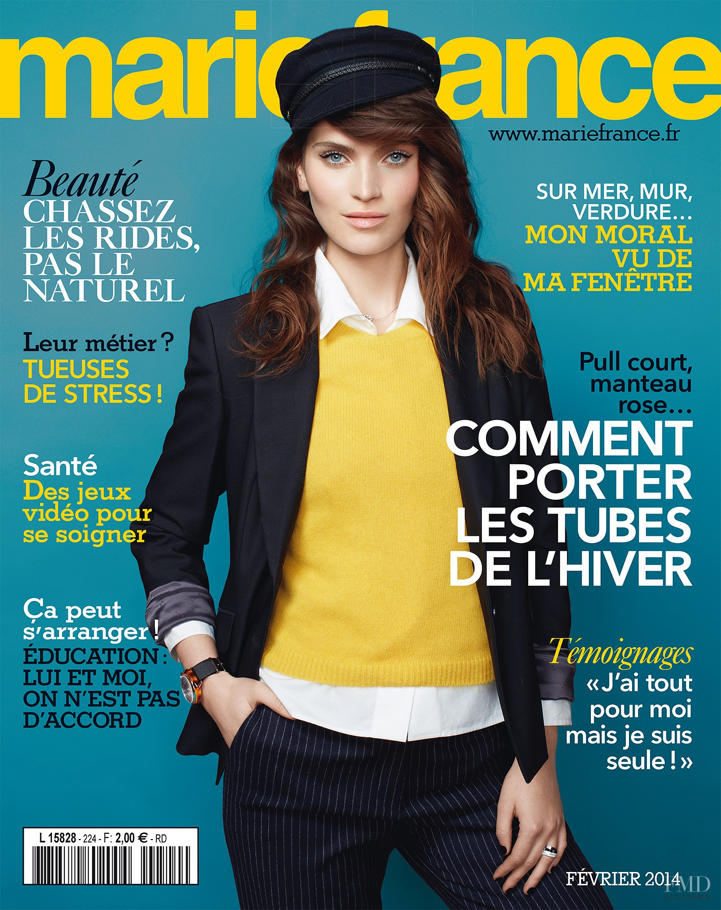 cover of marie france with henriette pawlowski february 2014 id 26555 magazines the fmd. Black Bedroom Furniture Sets. Home Design Ideas