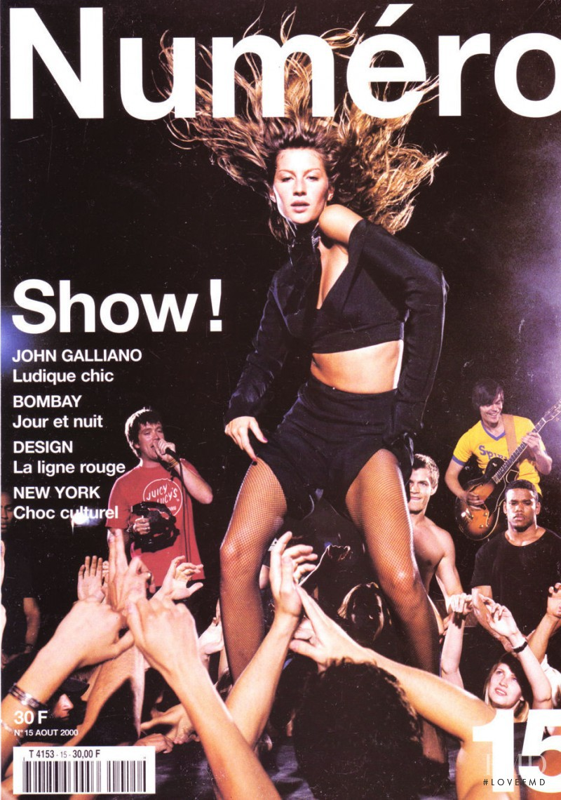 Gisele Bundchen featured on the Numéro France cover from August 2000