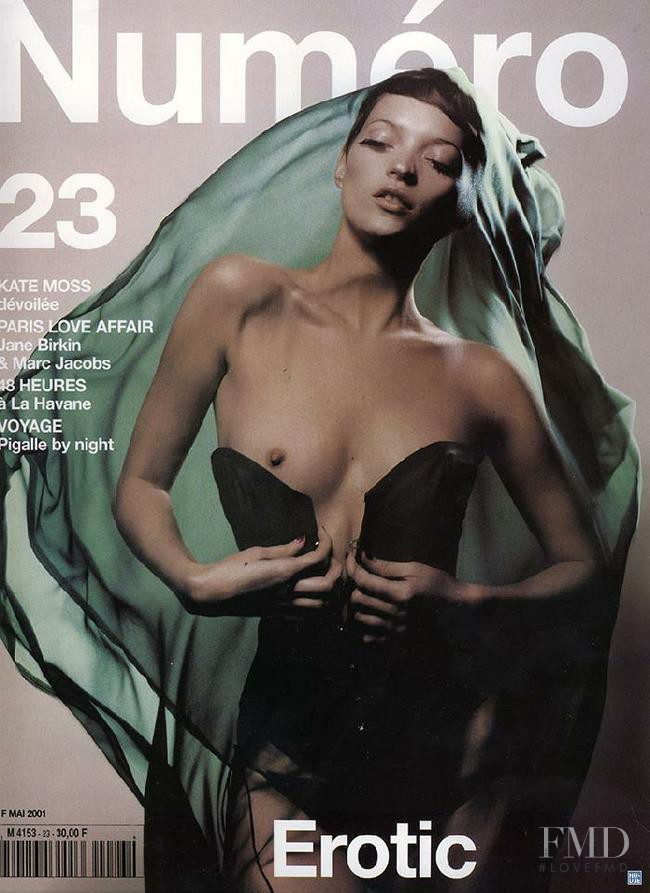 Kate Moss featured on the Numéro France cover from May 2001