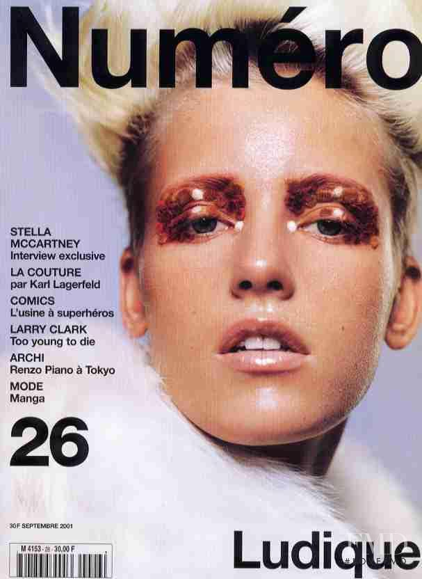 Diana Meszaros featured on the Numéro France cover from September 2001