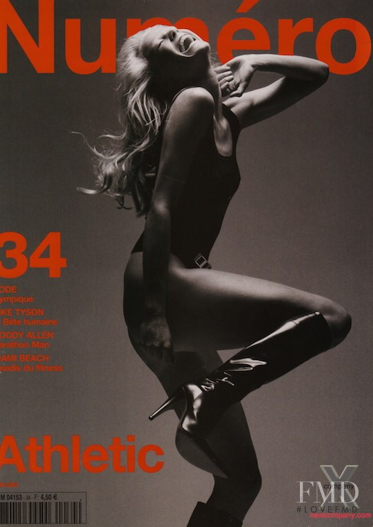 Marianne Schroder featured on the Numéro France cover from June 2002