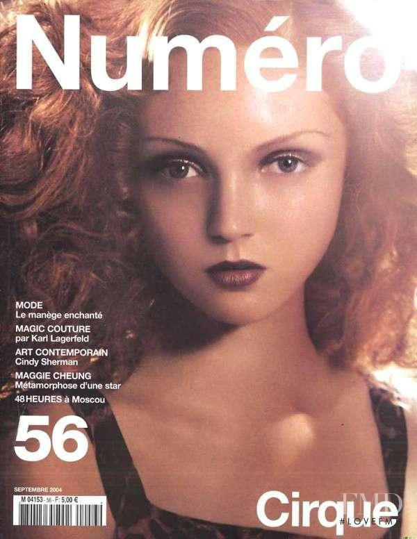 Lily Cole featured on the Num�ro France cover from September 2004