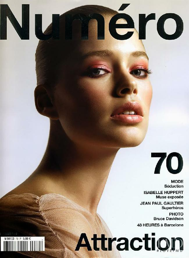 Doutzen Kroes featured on the Num�ro France cover from February 2006
