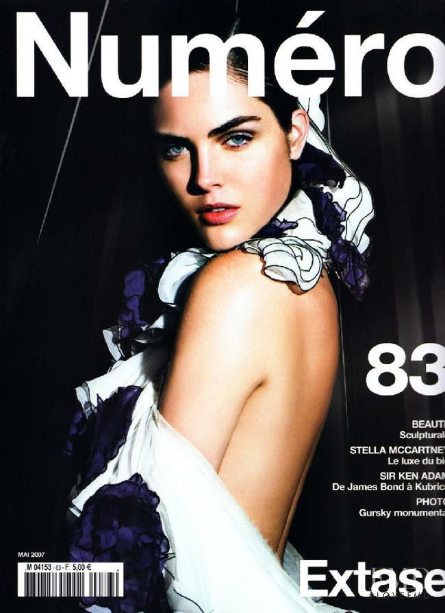 Hilary Rhoda featured on the Num�ro France cover from May 2007