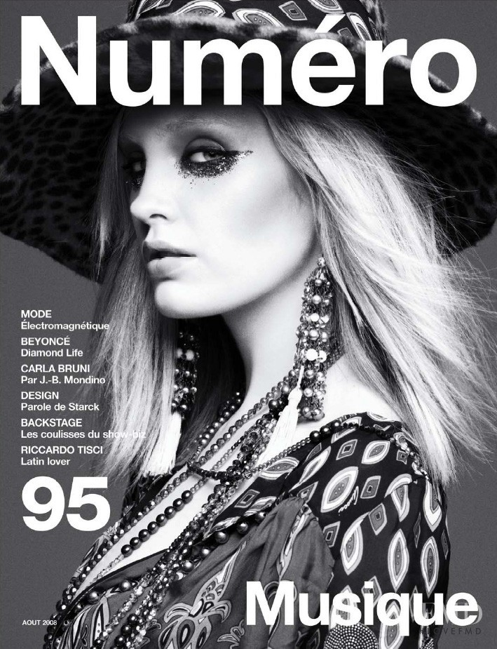 Heidi Mount featured on the Numéro France cover from August 2008