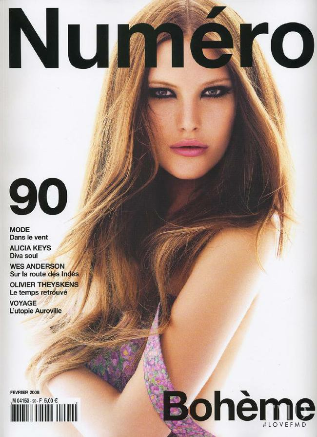Catherine McNeil featured on the Numéro France cover from February 2008