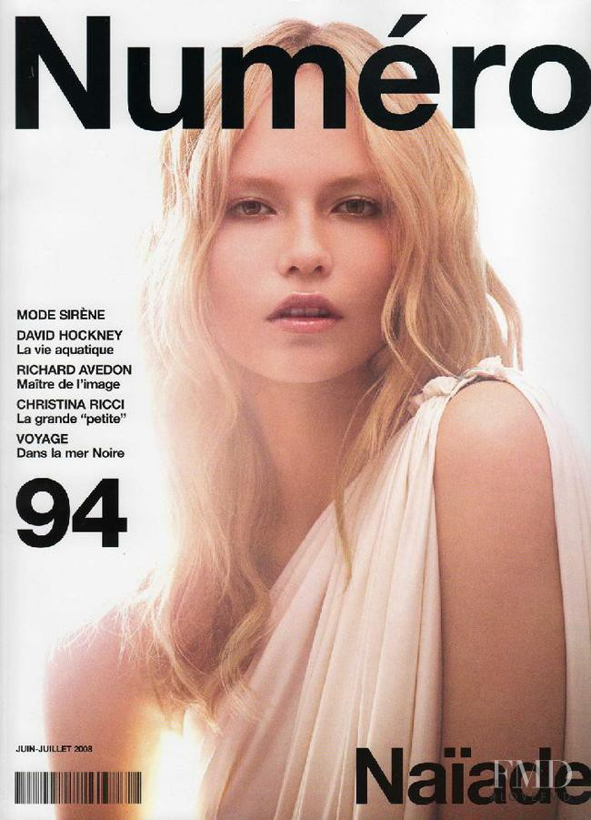 Natasha Poly featured on the Numéro France cover from June 2008