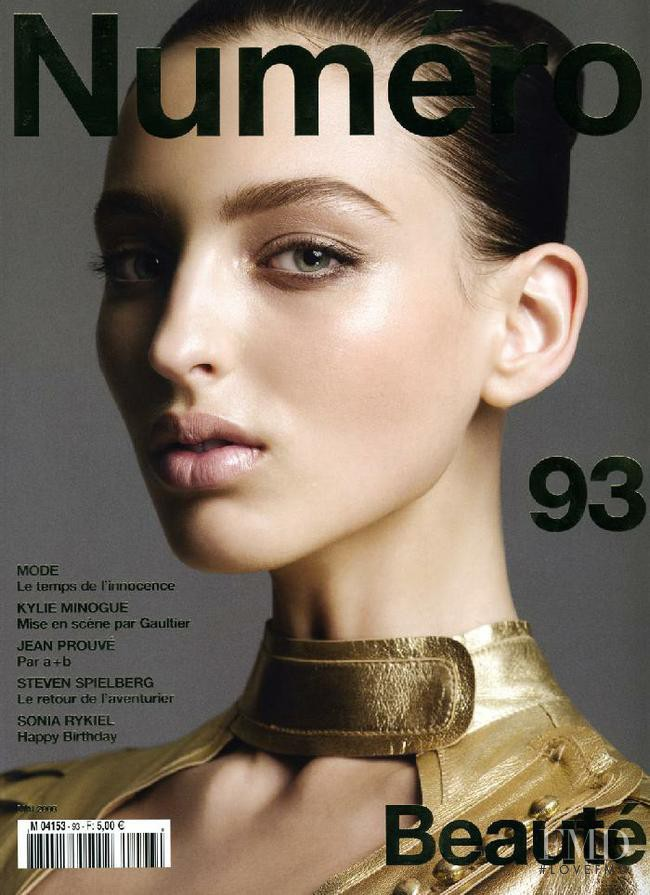 Georgina Stojiljkovic featured on the Numéro France cover from May 2008